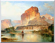 Thomas Moran Cliffs Of Green River Detail stretched canvas art