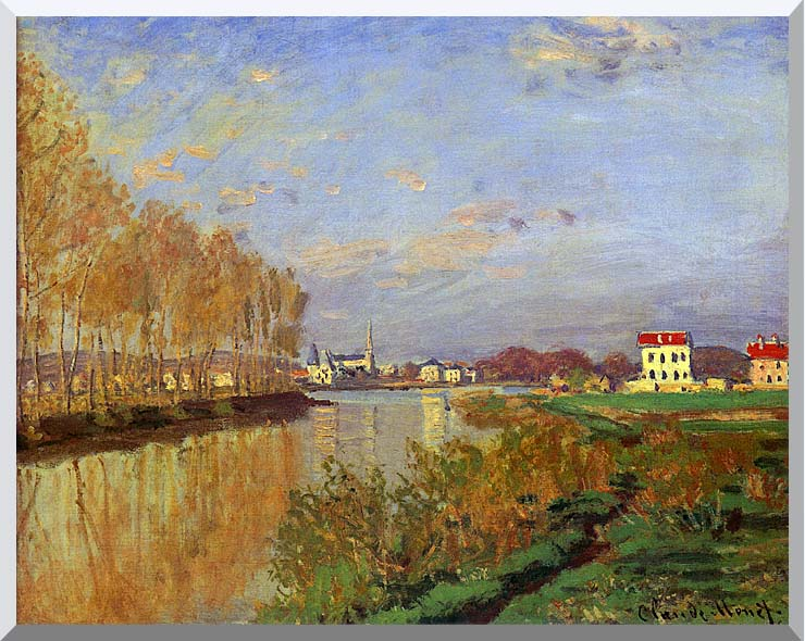 Claude Monet The Seine at Argenteuil (Vanilla Sky) stretched canvas art print