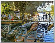 Claude Monet Bathers At La Grenouillere stretched canvas art