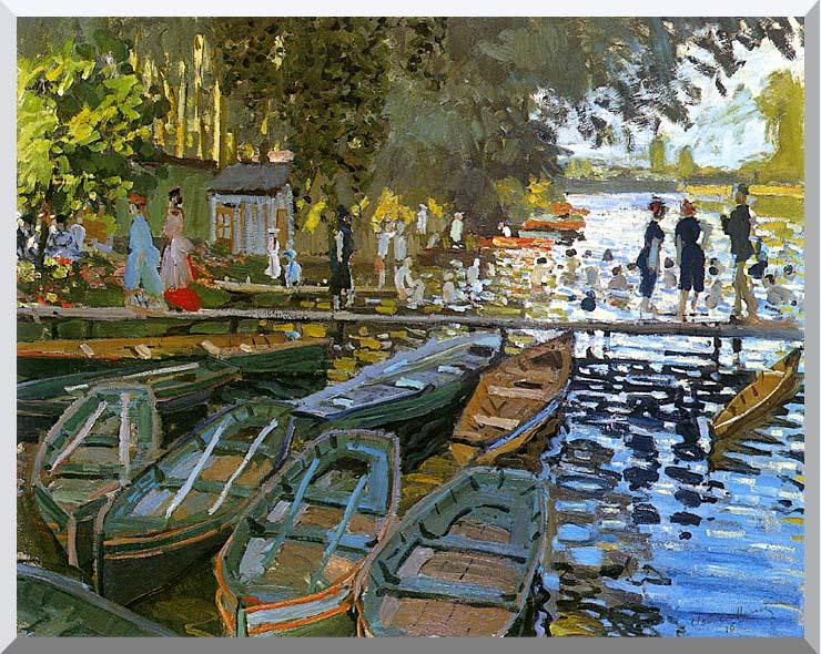 Claude Monet Bathers at La Grenouillere stretched canvas art print