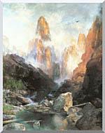 Thomas Moran Mist In Kanab Canyon Utah stretched canvas art