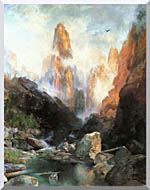 Thomas Moran Mist In Kanab Canyon Utah 1892 stretched canvas art