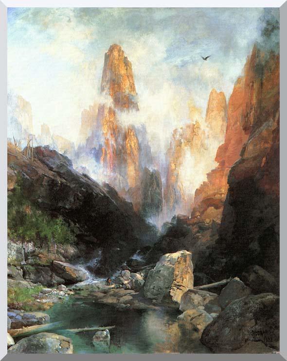 Thomas Moran Mist in Kanab Canyon, Utah 1892 stretched canvas art print