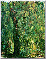 Claude Monet Weeping Willow Detail stretched canvas art