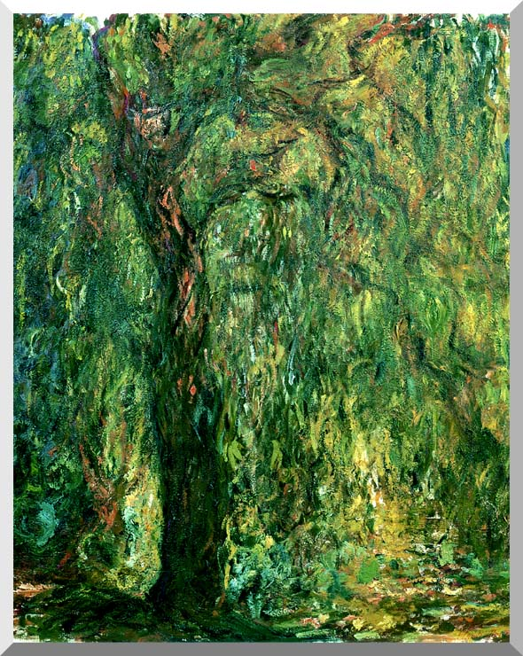 Claude Monet Weeping Willow (detail) stretched canvas art print