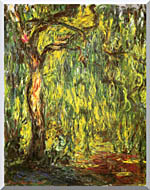 Claude Monet Landscape Weeping Willow stretched canvas art