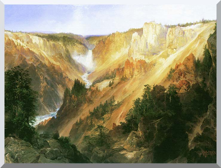 Thomas Moran Lower Falls of the Yellowstone stretched canvas art print