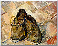 Vincent Van Gogh A Pair Of Old Shoes stretched canvas art