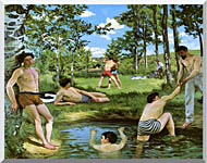 Frederic Bazille Summer Scene stretched canvas art