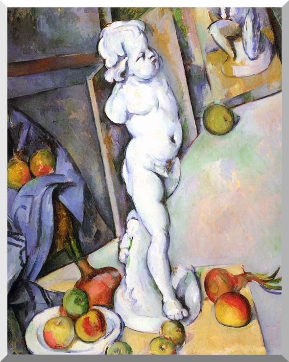 Paul Cezanne Still Life with Plaster Cast stretched canvas art print