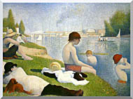 Georges Seurat Bathers At Asnieres stretched canvas art