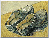 Vincent Van Gogh A Pair Of Leather Clogs stretched canvas art