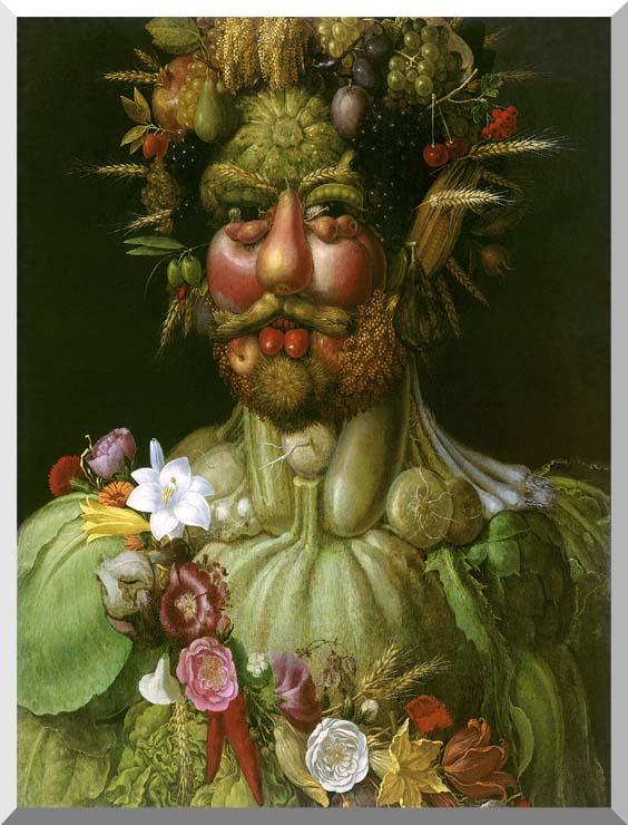 Giuseppe Arcimboldo Vertumnus stretched canvas art print