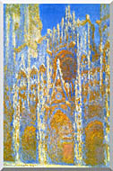 Claude Monet Rouen Cathedral Sunlight Effect stretched canvas art