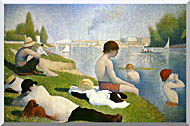 Georges Seurat Bathers At Asnieres Detail stretched canvas art