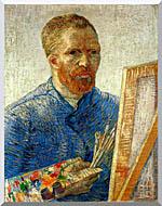 Vincent Van Gogh Self Portrait As An Artist stretched canvas art