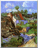 Vincent Van Gogh Houses At Auvers stretched canvas art