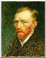 Vincent Van Gogh Self Portrait stretched canvas art