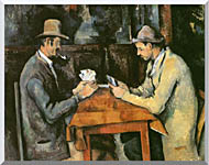 Paul Cezanne The Card Players stretched canvas art