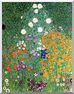 Gustav Klimt Farm Garden Portrait Detail stretched canvas art