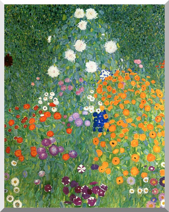 Gustav Klimt Farm Garden (portrait detail) stretched canvas art print