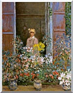 Claude Monet Camille Monet At The Window 1873 stretched canvas art