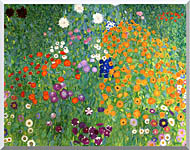 Gustav Klimt Farm Garden 1905 6 Detail stretched canvas art