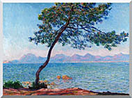 Claude Monet Antibes stretched canvas art