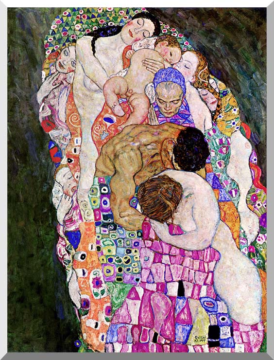 Gustav Klimt Death and Life (Life detail) stretched canvas art print