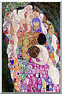 Gustav Klimt Death And Life Life Portrait Detail stretched canvas art