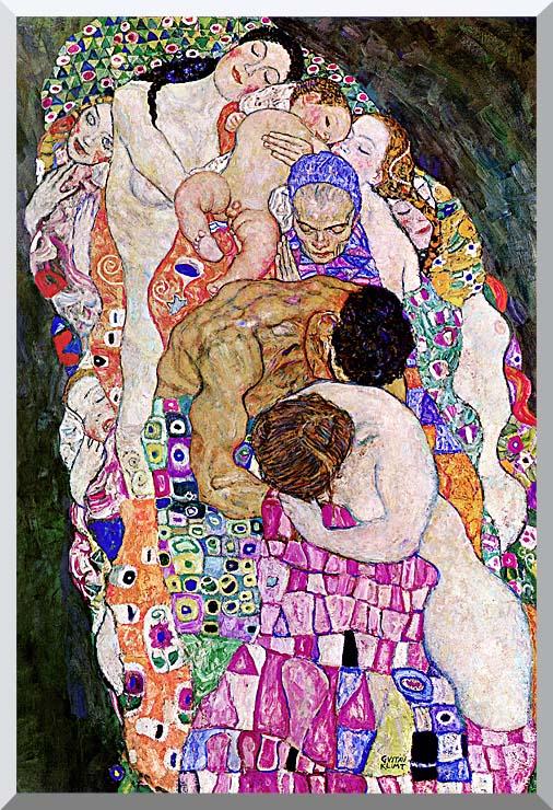 Gustav Klimt Death and Life (Life portrait detail) stretched canvas art print