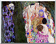 Gustav Klimt Death And Life Detail stretched canvas art