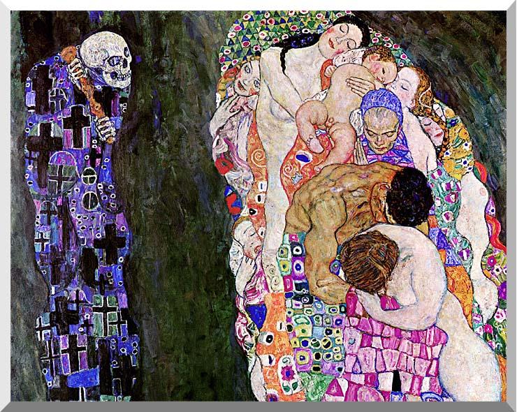 Gustav Klimt Death and Life (detail) stretched canvas art print