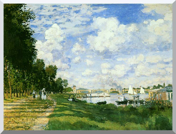 Claude Monet The Basin at Argenteuil stretched canvas art print