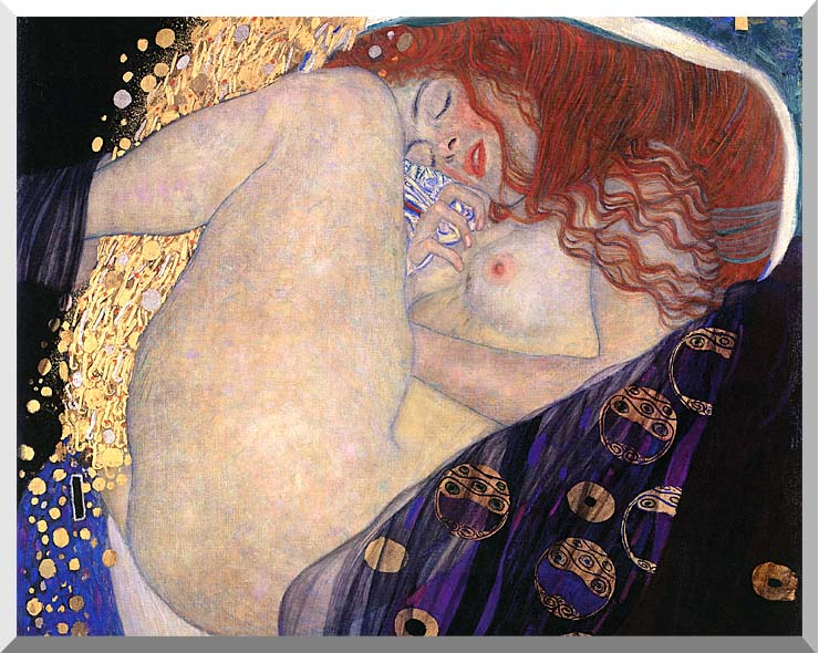 Gustav Klimt Danae (detail) stretched canvas art print