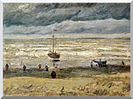 Vincent Van Gogh View Of The Sea At Scheveningen stretched canvas art