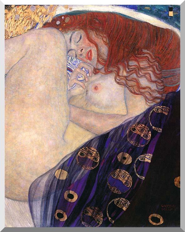 Gustav Klimt Danae 1907-8 (detail) stretched canvas art print