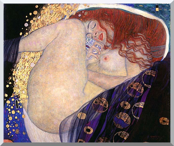 Gustav Klimt Danae stretched canvas art print