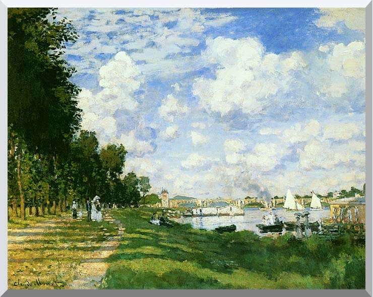 Claude Monet The Basin at Argenteuil (detail) stretched canvas art print