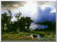 Albert Bierstadt Buffalo Trail The Impending Storm stretched canvas art
