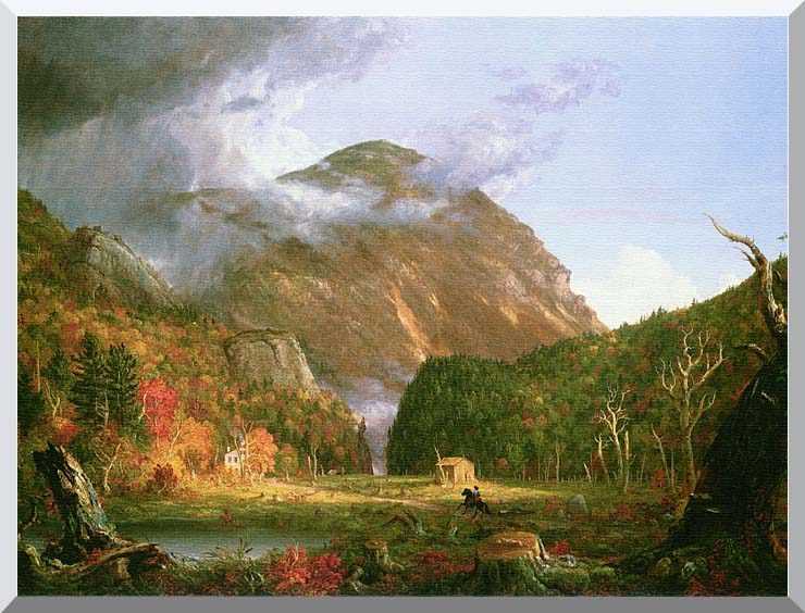 Thomas Cole The Notch of the White Mountains stretched canvas art print