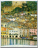Gustav Klimt Malcesine On Lake Garda Detail stretched canvas art