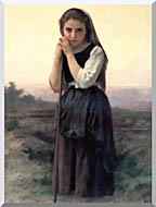 William Bouguereau Little Shepherdess stretched canvas art