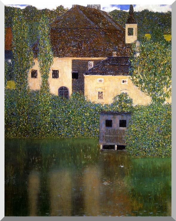 Gustav Klimt Schloss Kammer on the Attersee I (portrait detail) stretched canvas art print