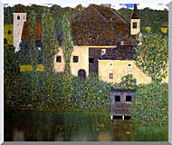 Gustav Klimt Schloss Kammer On The Attersee I stretched canvas art