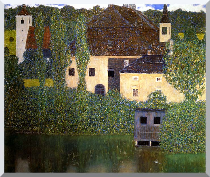 Gustav Klimt Schloss Kammer on the Attersee I stretched canvas art print