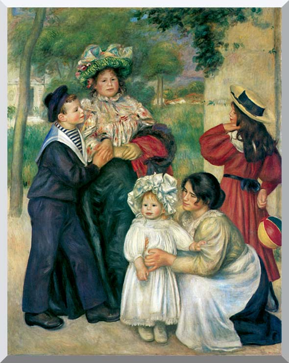 Pierre Auguste Renoir The Artist's Family stretched canvas art print