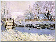 Claude Monet The Magpie Snow Effect stretched canvas art