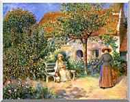 Pierre Auguste Renoir Garden Scene In Brittany stretched canvas art