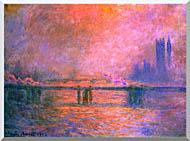 Claude Monet Charing Cross Bridge La Tamise 1903 stretched canvas art